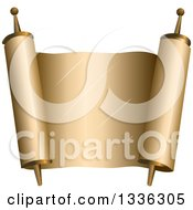 Clipart Of A Blank Open Torah Scroll Royalty Free Vector Illustration