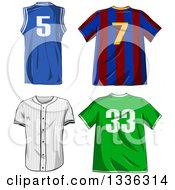 Clipart Of Sports Shirts Royalty Free Vector Illustration by Liron Peer
