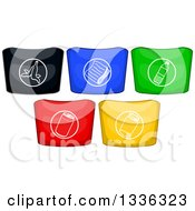 Clipart Of Colorful Recycle Bins Royalty Free Vector Illustration