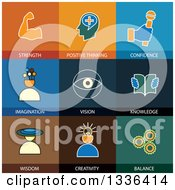 Clipart Of Flat Style Wellbeing Icons Royalty Free Vector Illustration by ColorMagic