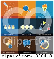 Clipart Of Flat Style Software Engineering Icons Royalty Free Vector Illustration by ColorMagic
