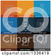Clipart Of Flat Style E Commerce Icons Royalty Free Vector Illustration by ColorMagic