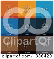Clipart Of Flat Style Smart Phone Icons Royalty Free Vector Illustration by ColorMagic