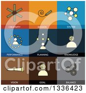 Clipart Of Flat Style Business And Creativity Icons Royalty Free Vector Illustration by ColorMagic