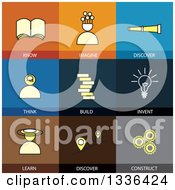 Clipart Of Flat Style Education And Creative Icons Royalty Free Vector Illustration by ColorMagic