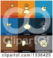 Clipart Of Flat Style Start Up Business Finance Icons Royalty Free Vector Illustration by ColorMagic