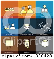 Clipart Of Flat Style Training And Education Icons Royalty Free Vector Illustration by ColorMagic