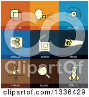 Clipart Of Flat Style Design And Invention Icons Royalty Free Vector Illustration