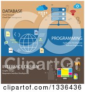Clipart Of Flat Style Database Programming And Interface Design Online Business Icon Banners Royalty Free Vector Illustration by ColorMagic