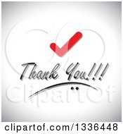 Clipart Of A Check Mark Over Thank You Text On Shading Royalty Free Vector Illustration by ColorMagic