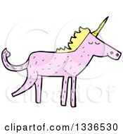 Pink Unicorn With A Blond Mane