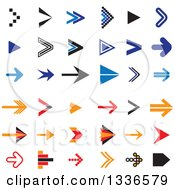 Clipart Of Arrow App Icon Button Design Elements Royalty Free Vector Illustration by ColorMagic
