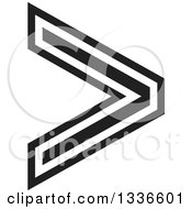Clipart Of A Black And White Arrow App Icon Button Design Element Royalty Free Vector Illustration