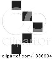 Clipart Of A Black Pixel Arrow App Icon Button Design Element Royalty Free Vector Illustration