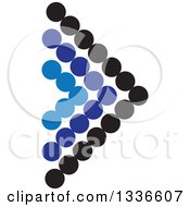 Clipart Of A Black And Blue Dot Arrow App Icon Button Design Element Royalty Free Vector Illustration