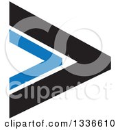 Clipart Of A Black And Blue Arrow App Icon Button Design Element Royalty Free Vector Illustration