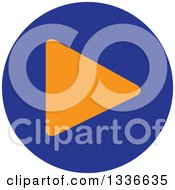 Clipart Of A Flat Style Blue And Orange Arrow Round App Icon Button Design Element 5 Royalty Free Vector Illustration by ColorMagic