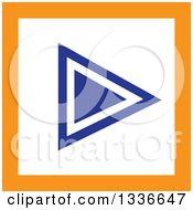 Clipart Of A Flat Style Square Orange White And Blue Arrow App Icon Button Design Element 2 Royalty Free Vector Illustration by ColorMagic