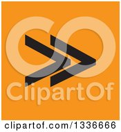 Clipart Of A Flat Style Black And Orange Square Arrow App Icon Button Design Element Royalty Free Vector Illustration