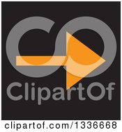 Clipart Of A Flat Style Orange And Black Square Arrow App Icon Button Design Element Royalty Free Vector Illustration