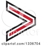 Clipart Of A Black And Red Arrow App Icon Button Design Element 2 Royalty Free Vector Illustration