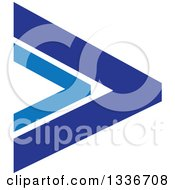 Clipart Of A Blue Arrow App Icon Button Design Element 10 Royalty Free Vector Illustration