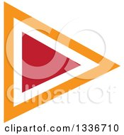 Clipart Of A Red And Orange Arrow Or Media Play App Icon Button Design Element Royalty Free Vector Illustration