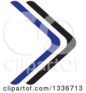 Clipart Of A Black And Blue Arrow App Icon Button Design Element 2 Royalty Free Vector Illustration