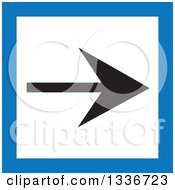 Clipart Of A Flat Style Blue Black And White Square Arrow App Icon Button Design Element Royalty Free Vector Illustration