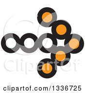 Clipart Of A Black And Orange Arrow App Icon Button Design Element Royalty Free Vector Illustration