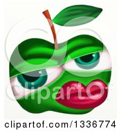 Clipart Of A Green Apple Character With Red Lips Royalty Free Illustration by Prawny