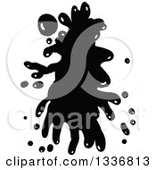 Clipart Of A Black Ink Splatter 2 Royalty Free Vector Illustration by Prawny
