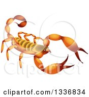 Clipart Of A Yellow And Orange Scorpion Royalty Free Illustration by Prawny