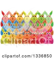 Clipart Of A Crowd Of Colorful Rabbits Royalty Free Vector Illustration by Prawny