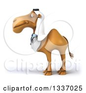 Clipart Of A 3d Arabian Doctor Camel Facing Left Royalty Free Illustration