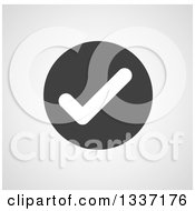 Clipart Of A White Selection Tick Check Mark In A Black Circle Over Gray Shading App Icon Button Design Element Royalty Free Vector Illustration by ColorMagic