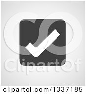 Clipart Of A White Selection Tick Check Mark In A Black Square Over Gray Shading App Icon Button Design Element Royalty Free Vector Illustration by ColorMagic