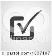Clipart Of A Grayscale Selection Tick Check Mark And Shaded Background App Icon Button Design Element 11 Royalty Free Vector Illustration