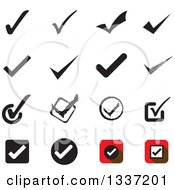Clipart Of Selection Tick Check Mark App Icon Button Design Elements Royalty Free Vector Illustration
