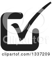 Clipart Of A Black Selection Tick Check Mark App Icon Button Design Element 9 Royalty Free Vector Illustration
