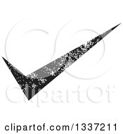 Clipart Of A Distressed Black Selection Tick Check Mark App Icon Button Design Element Royalty Free Vector Illustration