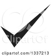 Clipart Of A Black Selection Tick Check Mark App Icon Button Design Element 6 Royalty Free Vector Illustration
