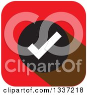 Clipart Of A Flat Design Selection Tick Check Mark App Icon Button Design Element Royalty Free Vector Illustration