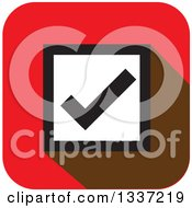 Clipart Of A Flat Design Selection Tick Check Mark App Icon Button Design Element 2 Royalty Free Vector Illustration