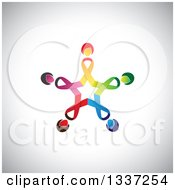 Clipart Of A Star Made Of Colorful Cancer Awareness Ribbon Women Over Shading Royalty Free Vector Illustration by ColorMagic