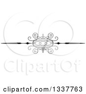 Clipart Of A Black And White Ornate Rule Page Border Design Element 3 Royalty Free Vector Illustration