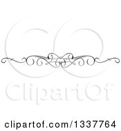 Clipart Of A Black And White Ornate Rule Page Border Design Element 4 Royalty Free Vector Illustration by KJ Pargeter