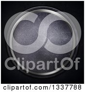 Clipart Of A Scratched Round Concrete And Aluminum Frame On Black Royalty Free Illustration