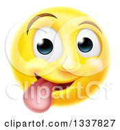 3d Silly Yellow Smiley Emoji Emoticon Face Sticking His Tongue Out