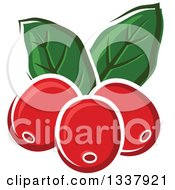 Clipart Of Cartoon Coffee Berries And Leaves Royalty Free Vector Illustration by Vector Tradition SM